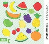 fruit doodle | Shutterstock .eps vector #644730214