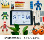 """the tablet with the word """"stem"""" ... 