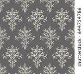 vector seamless damask pattern. ... | Shutterstock .eps vector #644734786