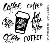 take away. coffee templates.... | Shutterstock .eps vector #644735398