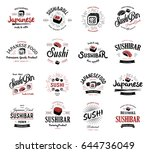 a large set of vector logos and ... | Shutterstock .eps vector #644736049