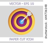 target concept icon. used as an ... | Shutterstock .eps vector #644736148
