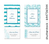 wedding invitation  thank you ... | Shutterstock .eps vector #644736544