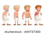 roman greek retro vintage old... | Shutterstock .eps vector #644737300
