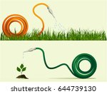two banners with garden hose | Shutterstock .eps vector #644739130