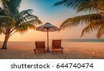 inspirational tropical beach ... | Shutterstock . vector #644740474