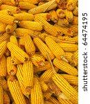 corn maize heap in harvest... | Shutterstock . vector #64474195