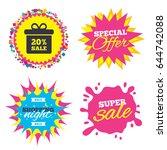 sale splash banner  special... | Shutterstock .eps vector #644742088