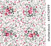 floral seamless pattern on... | Shutterstock .eps vector #644743999