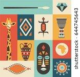 africa  vector travel... | Shutterstock .eps vector #644745643