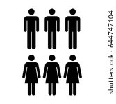 people icon   vector group of... | Shutterstock .eps vector #644747104