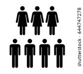 people icon   vector group of... | Shutterstock .eps vector #644747278
