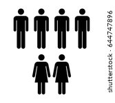 people icon   vector group of... | Shutterstock .eps vector #644747896