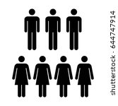people icon   vector group of... | Shutterstock .eps vector #644747914
