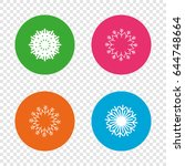 snowflakes artistic icons. air... | Shutterstock .eps vector #644748664
