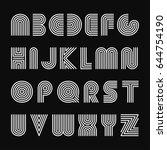 vector striped english alphabet....   Shutterstock .eps vector #644754190