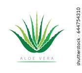 aloe vera with leaves. | Shutterstock .eps vector #644754310