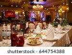 sparkling glassware stands on... | Shutterstock . vector #644754388
