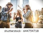 multi ethnic group of friends... | Shutterstock . vector #644754718