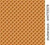 seamless waffle pattern | Shutterstock .eps vector #644755078