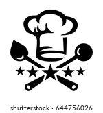 chef's hat  cooking spoon  5... | Shutterstock .eps vector #644756026