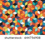 geometric colorful seamless...   Shutterstock .eps vector #644756908