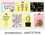summer june greeting cards and... | Shutterstock .eps vector #644757934