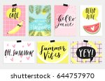 summer june greeting cards and... | Shutterstock .eps vector #644757970