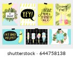 summer june greeting cards and... | Shutterstock .eps vector #644758138