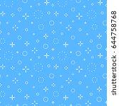 memphis seamless vector pattern.... | Shutterstock .eps vector #644758768