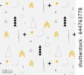 geometric arrow flat pattern.   Shutterstock .eps vector #644763778