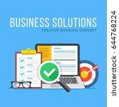 business solutions. flat design ... | Shutterstock .eps vector #644768224