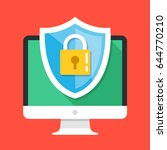 computer security  protect your ... | Shutterstock .eps vector #644770210
