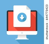document download button on... | Shutterstock .eps vector #644773423