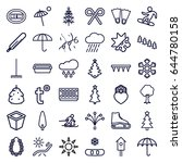season icons set. set of 36... | Shutterstock .eps vector #644780158