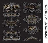 old vintage floral elements  ... | Shutterstock .eps vector #644780398