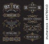 old vintage floral elements  ... | Shutterstock .eps vector #644780410