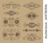 old vintage floral elements  ... | Shutterstock .eps vector #644780506