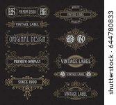 old vintage floral elements  ...   Shutterstock .eps vector #644780833
