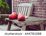 close up clogs  zaanse schans ...   Shutterstock . vector #644781088