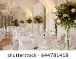 dining room for weddings | Shutterstock . vector #644781418