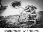 big rope of a boat | Shutterstock . vector #644781898