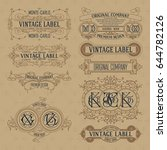 old vintage floral elements  ... | Shutterstock .eps vector #644782126