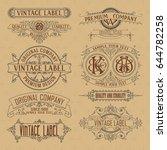 old vintage floral elements  ... | Shutterstock .eps vector #644782258