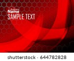 red abstract template for card... | Shutterstock .eps vector #644782828