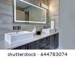 contemporary master bathroom... | Shutterstock . vector #644783074
