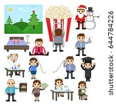 business  holiday and... | Shutterstock .eps vector #644784226