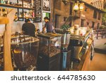 soft focus bar interior coffee... | Shutterstock . vector #644785630