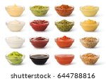 Bowl With Sauce Set  Isolated...
