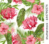 vector botanical seamless... | Shutterstock .eps vector #644790574